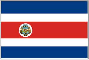 Drapeau Actuel du Costa Rica