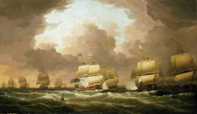 Guerre 7 ans Bataille Navale de la Baie de Quiberon