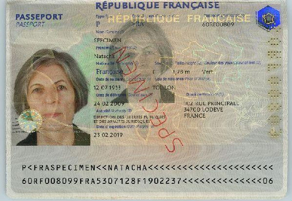 Passeport Biométrique Français
