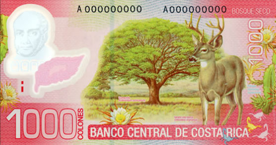Billet 1000 colones verso Costa Rica