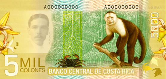 Billet 5000 colones verso Costa Rica